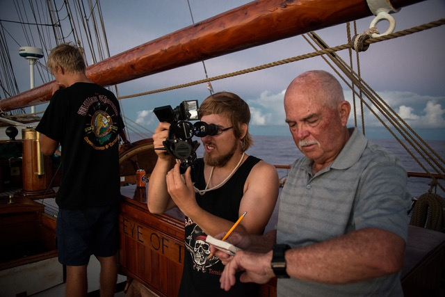 Using a sextant on EYE OF THE WIND
